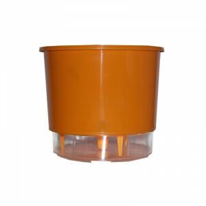 Vaso Autoirrigável Pequeno - Laranja 12,6  x 11,4 cm N02