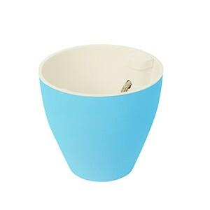 Vaso Autoirrigável 16x17 cm - Fosco - Azul - Plantiê