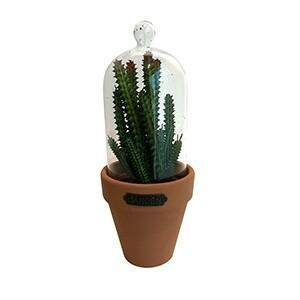 Vaso Candelabra Cactus em Cerâmica mini