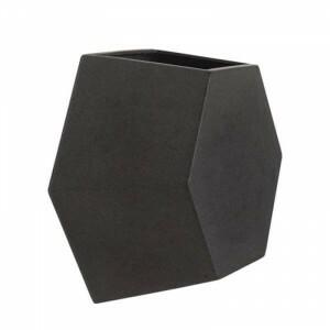 Vaso de parede Colmeia 25x29,5 cm para Jardim Vertical - Cor Antique Preto