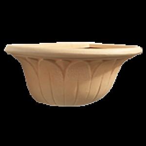 Vaso de Parede Margarida 51cm de Polietileno Cor Antique Terracota - Vasart