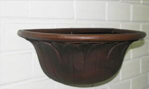 Vaso de Parede Margarida 51cm de Polietileno Cor Rusty - Vasart