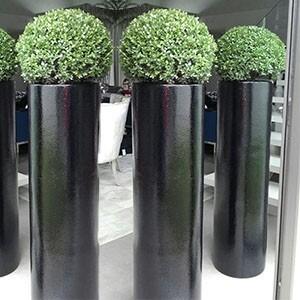 Vaso Fibra de Vidro - Cilindro 80 - 80 alt x 34 diâm - Diversas Cores - Rotogarden