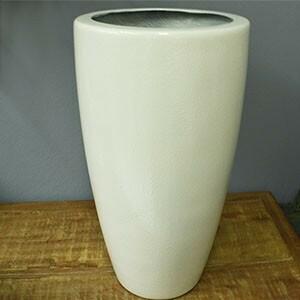 Vaso Fibra de Vidro - Cônico 30 - 52 alt x 30 diâm - Branco - Rotogarden