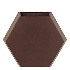 Vaso de parede Colmeia 25x29,5 cm  para Jardim Vertical - Cor Rusty