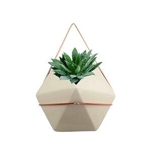 Vaso de Parede Diamond em Cerâmica mini