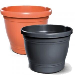 Vaso Plástico Redondo - Primavera - N06 - 25,0x28,0cm - 10,5 L