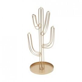 Cactus Decorativo em Metal - 29,2x13,3 cm - Cor Dourado - 40830