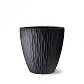 Vaso Infinity Redondo N65 - 65x65 cm - 160 L - Preto