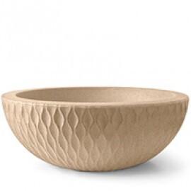 Vaso Infinity Concha Alt 27 - Diam 75 cm - 54 L - Cor Areia