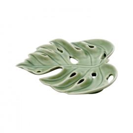 Adams Leaf Decorativo em Cerâmica - 1,9x15,7 cm - Cor Verde - 41185