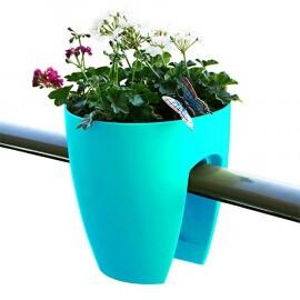 Greenbo Planter - Vaso para Sacadas - Turquesa