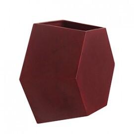 Vaso de parede Colmeia 25x29,5 cm  para Jardim Vertical - Cor Antique Vermelho