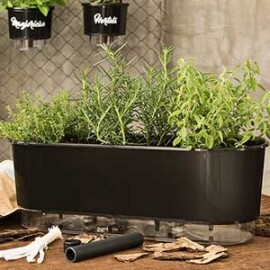 Jardineira 14x40 cm - Autoirrigável - Cor Preto