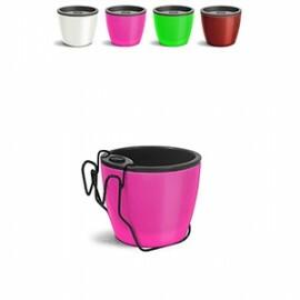 Kit Vaso Autoirrigável Elegance N03 - 12,5 alt x 15,4 diâm - 1,6 Litros - Cores Lisas