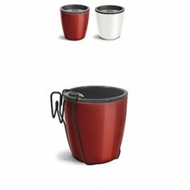 Kit Vaso Autoirrigável Elegance N03,5 - 15,9 alt x 15,4 diâm - 1,6 Litros - Cores Lisas
