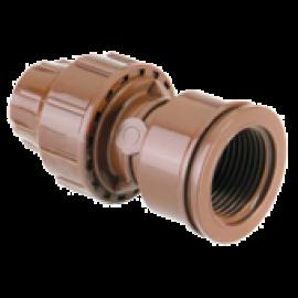 Conexão 16mm/16mm fechamento macho porca marrom - 1225 - Elgo