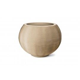 Vaso Ondulado Redondo N50 - 52x51cm - 120 Litros - Cor Areia