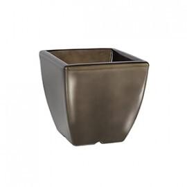 Vaso Quadrado - 25,5 alt x 25,5 larg - PPA06 - Pintura em Alto Brilho - Diversas Cores - Rotogarden