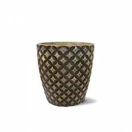 Vaso Redondo Diamante N43 - 43,5x43 cm - 44 Litros - Cor Envelhecido