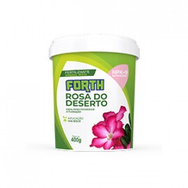 Forth Rosa do Deserto - Fertilizante NPK 10-16-12 + 9 Nutrientes - 400 g