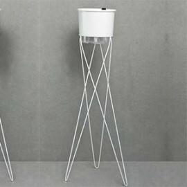 Suporte Tripé Para Vasos T4 - 80 cm alt - Cor Branco - Raiz