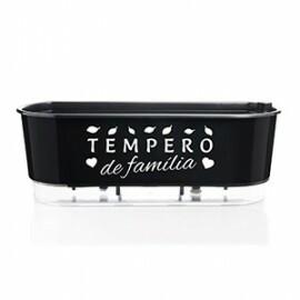 Jardineira 14x40 cm - Autoirrigável - Cor Preto - TEMPERO DE FAMÍLIA