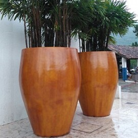 Vaso Fibra de Vidro - Everest M - 140 alt x 146 diâm - Diversas Cores - Rotogarden