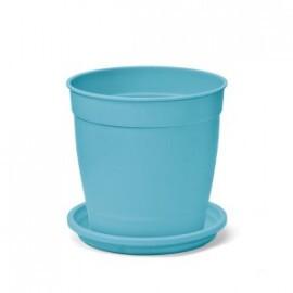 Vaso Aquarela com Prato - N03,5 - 1,7L - Cor Azul Tiffany
