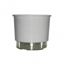 Vaso Autoirrigável Pequeno - Branco (T201)