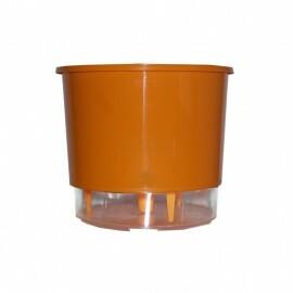 Vaso Autoirrigável Médio T3 RAIZ - Laranja