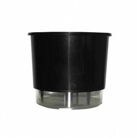 Vaso Autoirrigável Grande - Preto (T408)