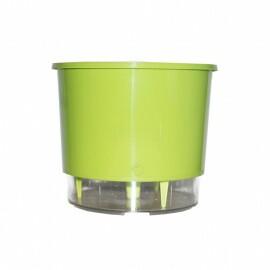 Vaso Autoirrigável Grande - Verde Claro - 21,5cm x 19cm - N04