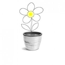 Vaso Autoirrigável 12,5x15,4 - Elegance N03 - Cor Branco carrara