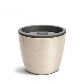 Vaso Autoirrigável Elegance N04 - 23,2x25,4 - 8 Litros - Cor Travertino