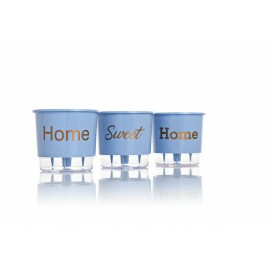 Trio Home Sweet Home - Autoirrigável T2 - 12x11 cm - Cor Azul Serenity