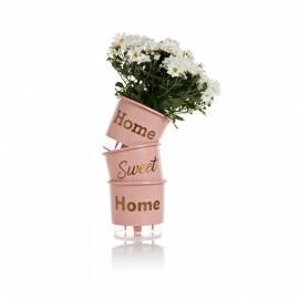 Trio Home Sweet Home - Autoirrigável T2 - 12x11 cm - Cor Rosa Qartz