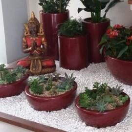 Vaso Fibra de Vidro - Bacia 27 - 11 alt x 27 diâm - Diversas Cores - Rotogarden