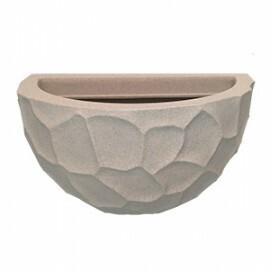 Vaso de Parede Prisma N33 - 20x33cm - 5 L - Cor Cimento