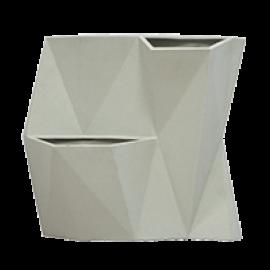 Vaso de Parede Modular Angolo - Cor Cimento