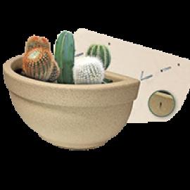 Vaso de Parede Texturizado 39 cm - 7 L - Areia