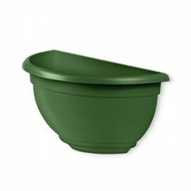 Vaso de Parede Pequeno Plástico - 26x13,5x13,5 cm - Cor Verde