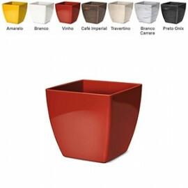 Cachepô Elegance Quadrado N02 - 13,4 alt x 13,6 larg - 1,7 Litros