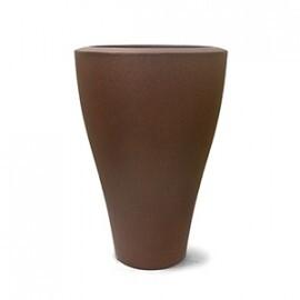 Vaso Ming Cônico N67 - 67x45 cm - 55 L - Cor Ferrugem