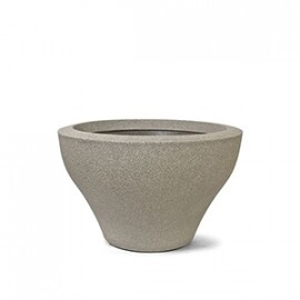 Vaso Ming Redondo Baixo N33 - 33x53,5 cm - 44 L - Cor Granito
