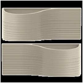 kit 2 Vasos modulares - Jardim Vertical Línea 20x50 cm - Cor Cimento