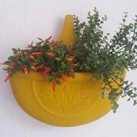 Vaso de Parede Autoirrigável - 5 L - Cor Amarelo