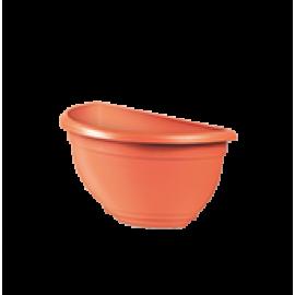 Vaso de Parede Mini Plástico - 20x10x10 cm - Cor Cerâmica