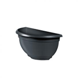 Vaso de Parede Mini Plástico - 20x10x10 cm - Cor Preto