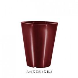 Vaso Cônico - 40 alt x 34 diâm - PPA24 - Pintura em Alto Brilho - Diversas Cores